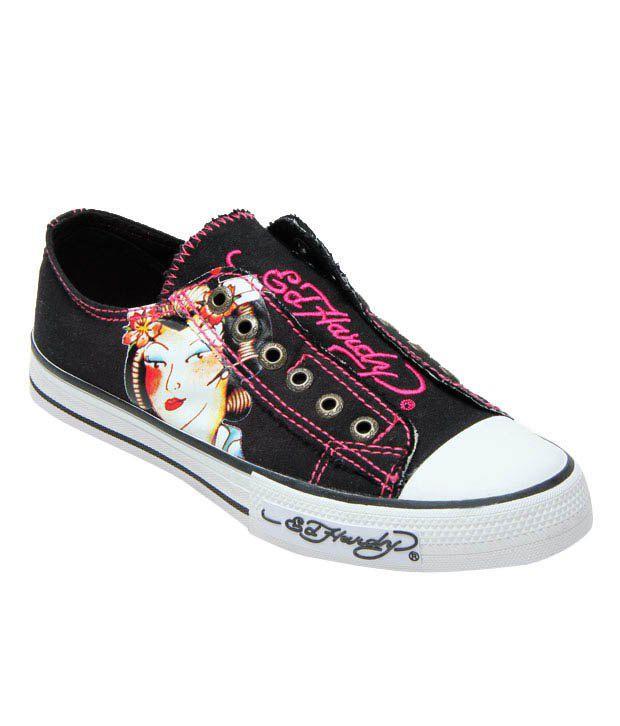 Ed Hardy Black Butterfly Sneakers