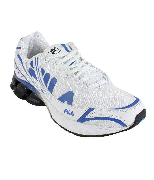 Fila Glow White & Blue Running Shoes