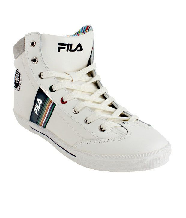 Fila Vintage White High Ankle Sneakers