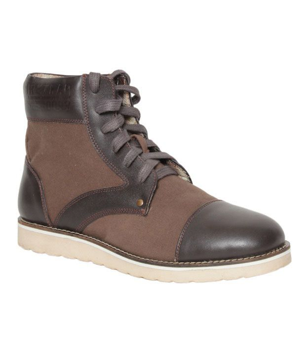Krush Feisty Dark Brown High Ankle Boots