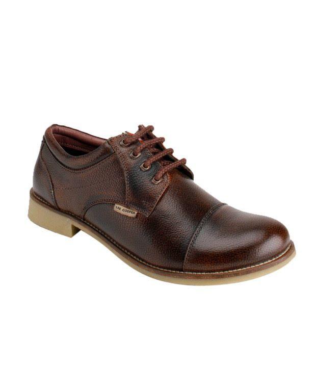 Lee Cooper Brown Formal Shoes