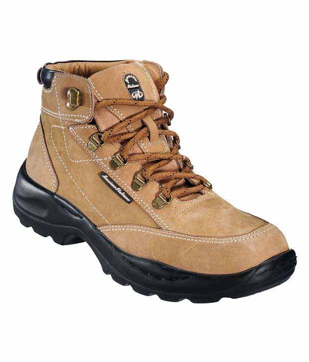 Massimo Italiano Sturdy Tan High Ankle Shoes