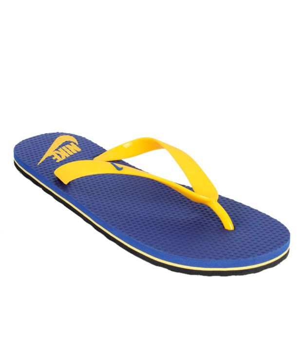 separation shoes 63028 2738d Nike Aquahype Blue & Yellow Slippers
