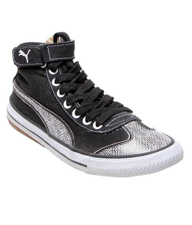 Puma Black & White High Ankle Shoes