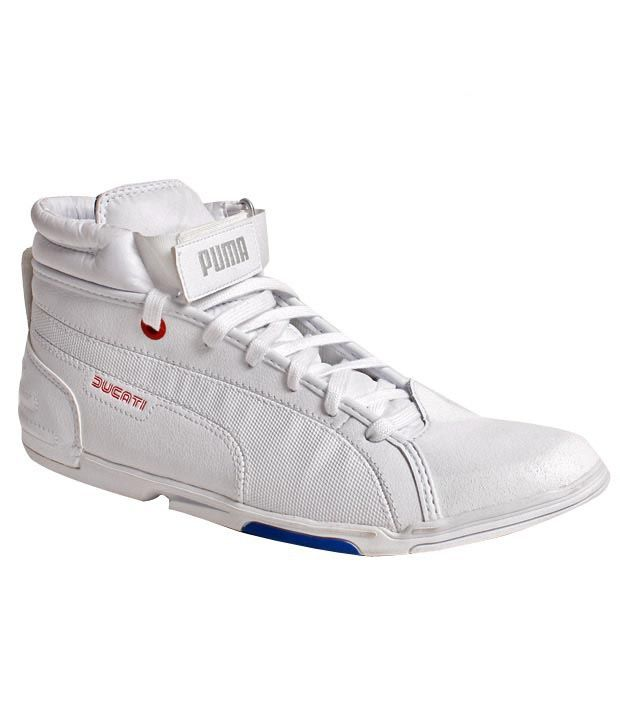 Puma Xelerate Mid Ducati White Lifestyle Shoes