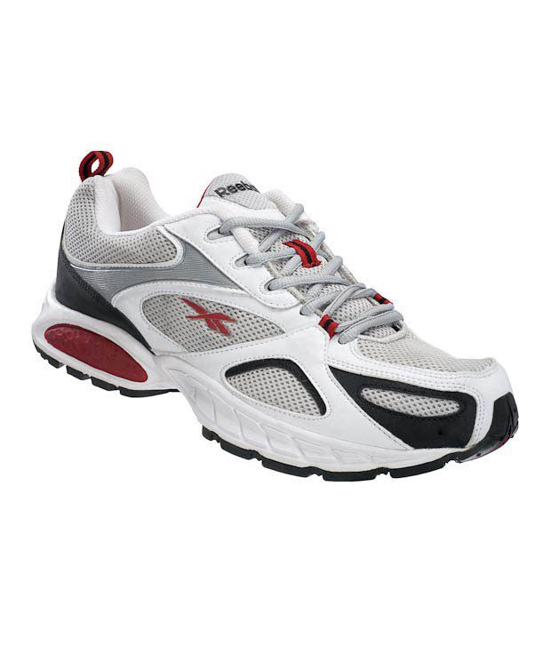 Reebok Acciomax White & Grey Running Shoes