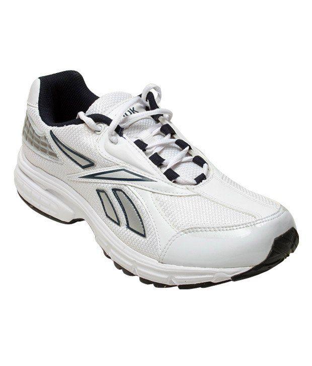 Reebok Energy White & Silver Sports Shoes