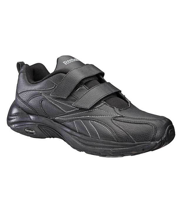 a7ef243fbc7 Reebok Walk Max Velcro All Black Running Shoes - Buy Reebok Walk Max Velcro  All Black Running Shoes Online at Best Prices in India on Snapdeal