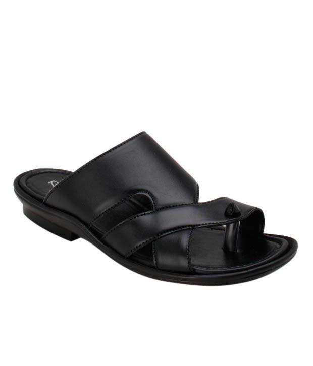 Roony Shiny Black Slippers