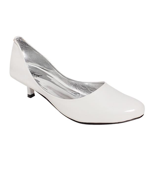 Sleek Trendy White Ballerina