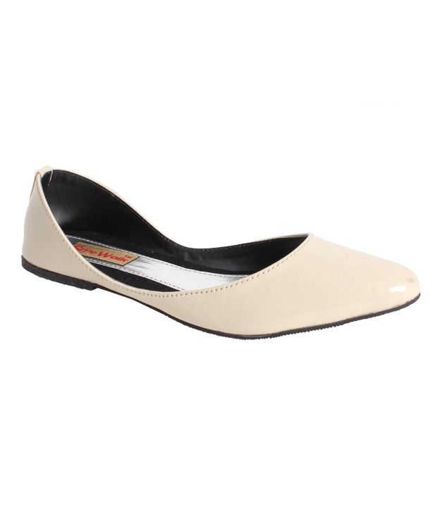 Stylewalk Off-White Calming Ballerinas