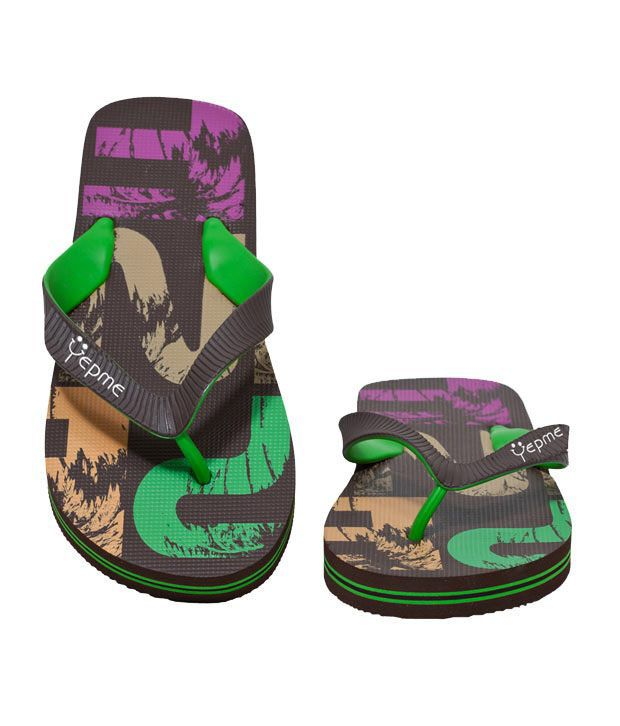 Yepme Graphic Printed Brown Designer Flip-Flop