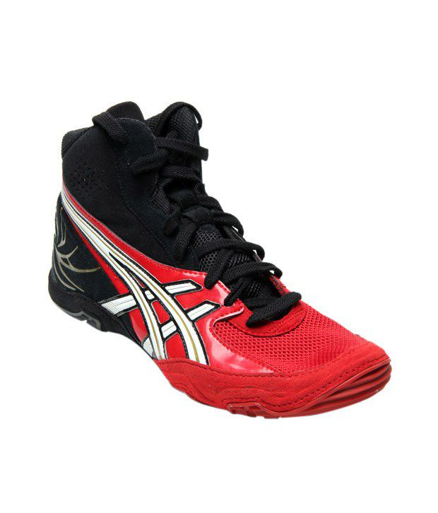 Asics Cael Red & Black Sports Shoes
