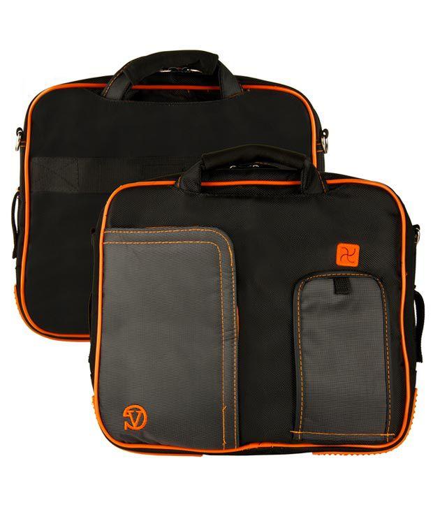 Black and Orange VanGoody Pindar Laptop Case for Dell XPS 12 Ultrabook Laptop
