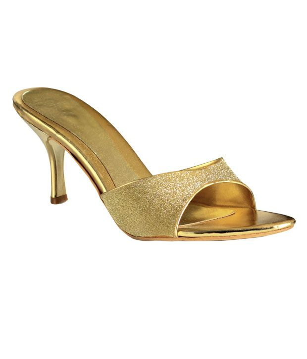 Catwalk Shining Golden Heel Sandals