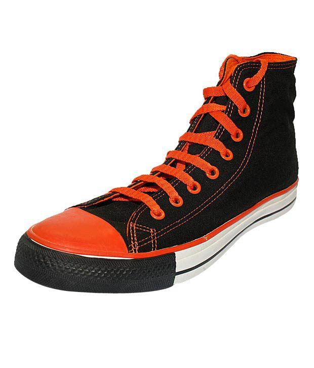 Converse Black   Orange High Ankle Sneakers - Buy Converse Black   Orange  High Ankle Sneakers Online at Best Prices in India on Snapdeal e7c175fb3