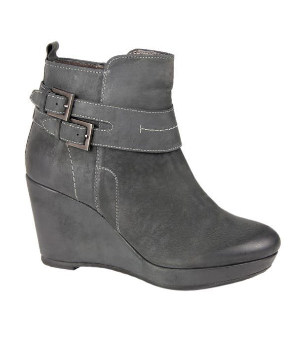Euro Star Modish Grey High Ankle Length Boots