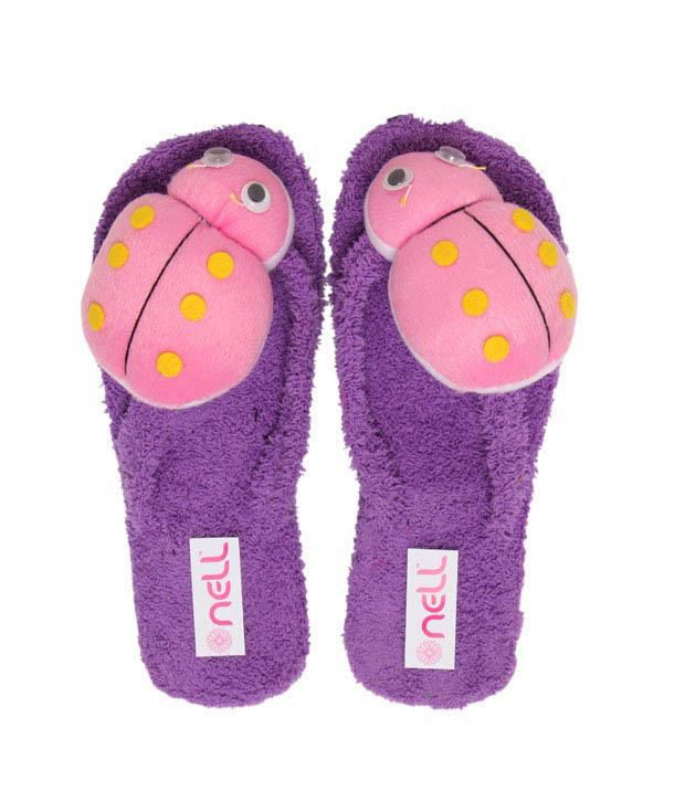FNB-Nell Ladybird Purple Slippers