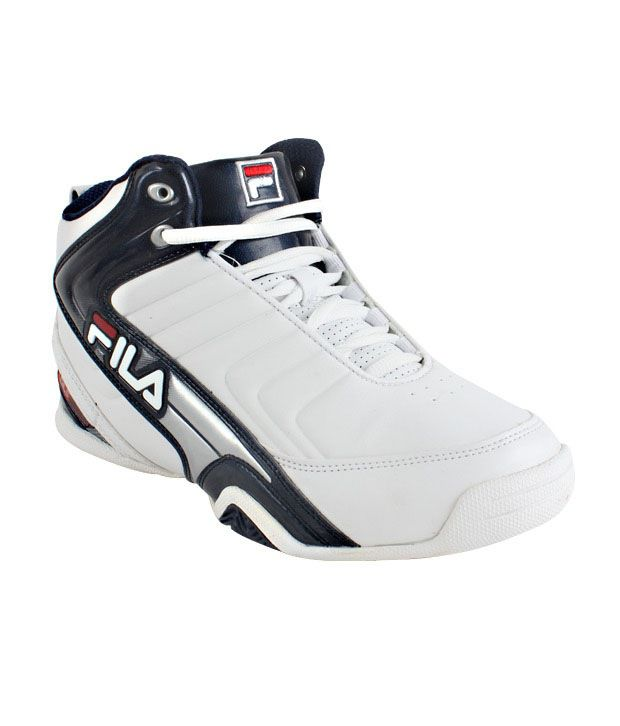 Fila White High Ankle Basketball Shoes Buy Fila White High