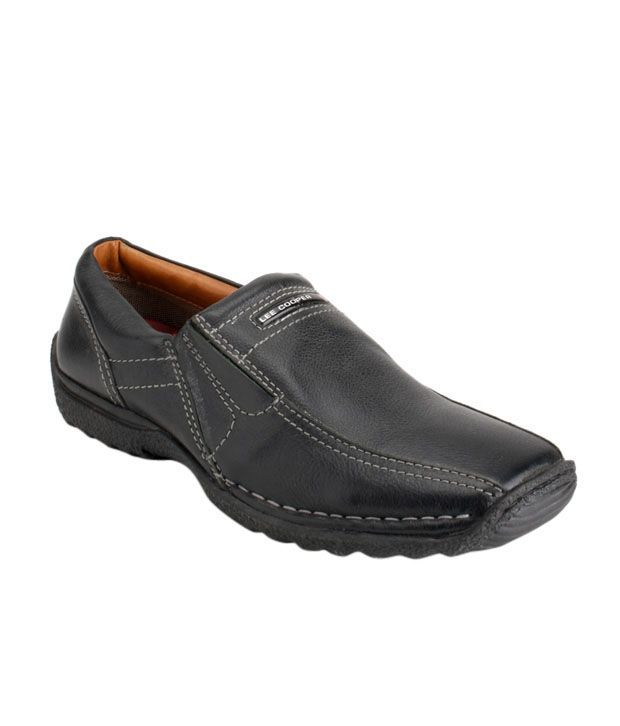 Lee Cooper Black Smart Casuals  & Slip-on Shoes