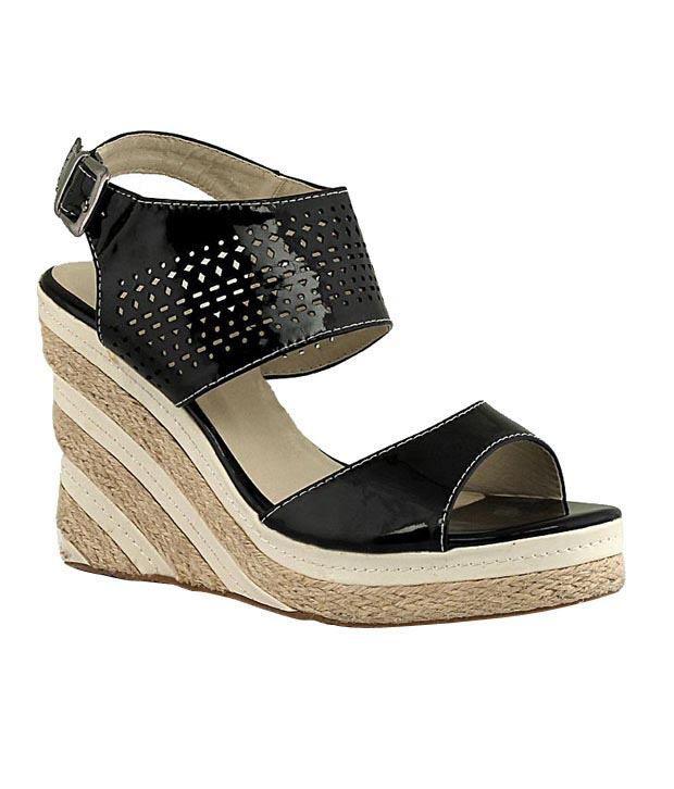 Martini Black Wedge Heel Sandals