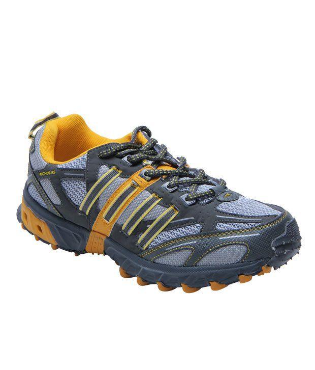 Nicholas Grey & Yellow Running Shoes