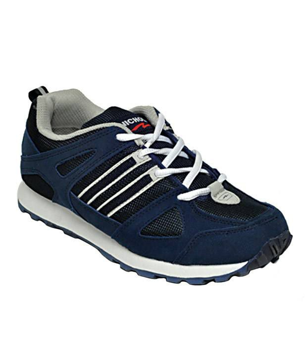 Nicholas Robust Navy Blue & Black Sports Shoes