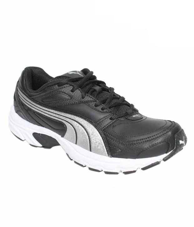 Puma Axis Black & Silver Running Shoes