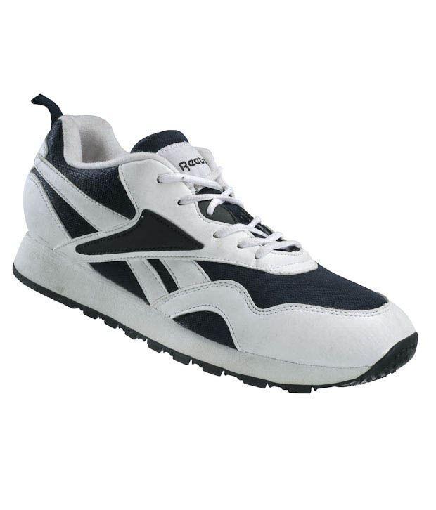 Reebok Blaze White & Navy Jogging Shoes