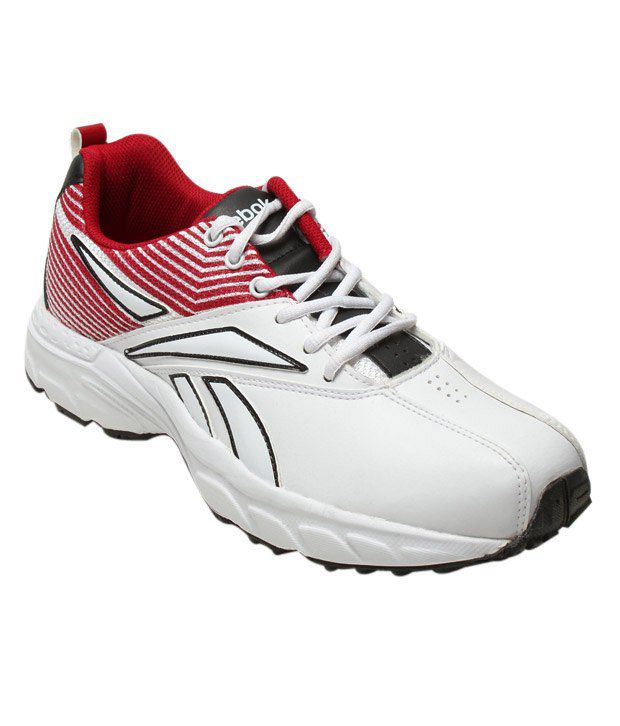 Reebok White & Red All Rounder Trainer Shoes