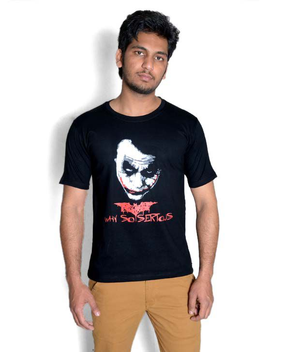 b65c36b54 WK Black Joker - Why So Serious T-Shirt - Buy WK Black Joker - Why So  Serious T-Shirt Online at Low Price - Snapdeal.com