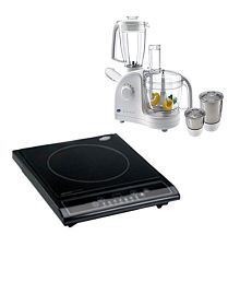 Glen GL-4052 + GL-3070 Induction Cooktop Food Processor Combo