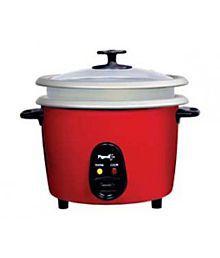 Pigeon 1.8 L Joy Unlimited DX Double Pot Rice Cooker Red