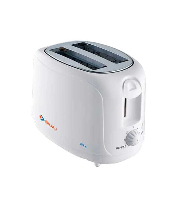 Bajaj ATX 4 750 W Pop Up Toaster(White)