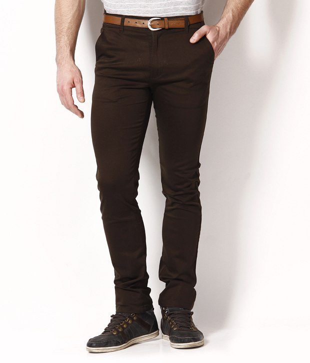 British Terminal Deep Brown Slim Fit Chinos