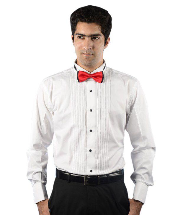 Givo white tuxedo shirt with french cuff buy givo white for Tuxedo shirt french cuff