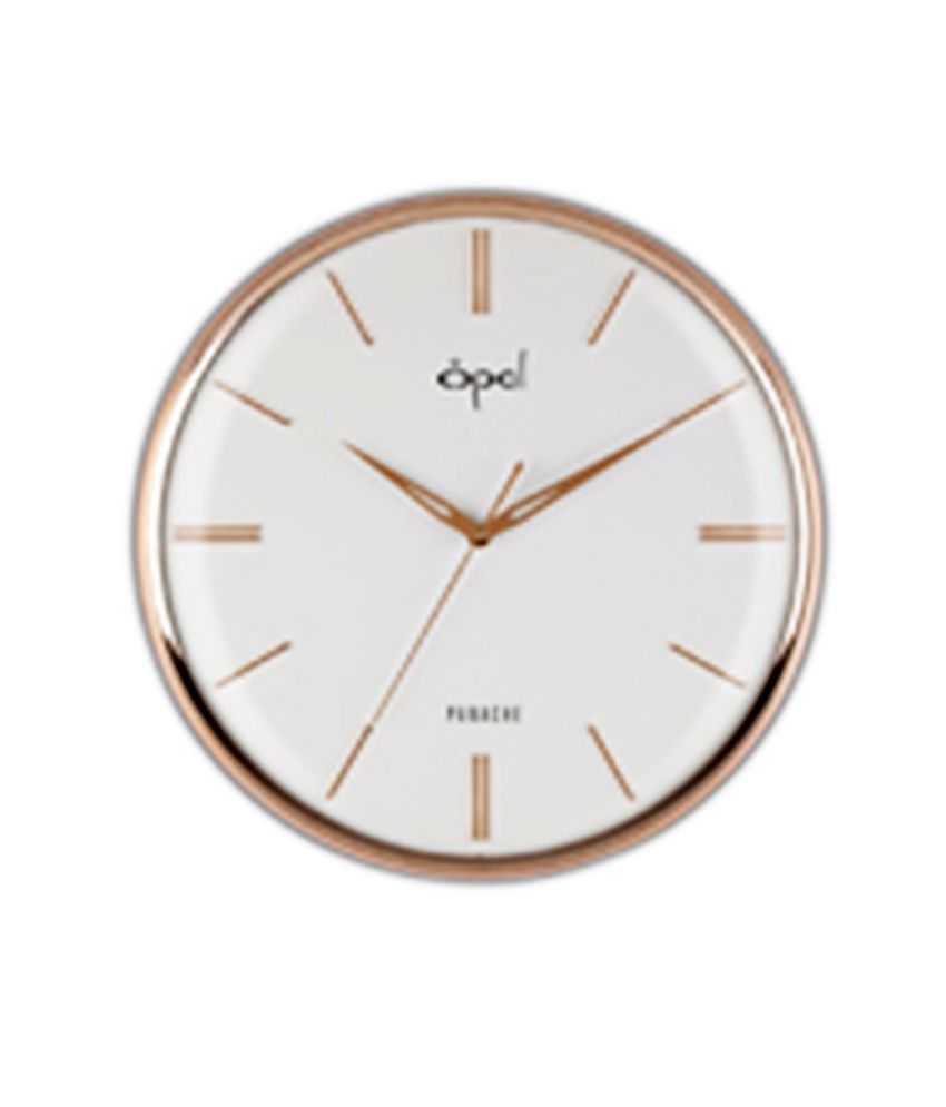 Opal Round White And Golden Wall Clock Buy Opal Round