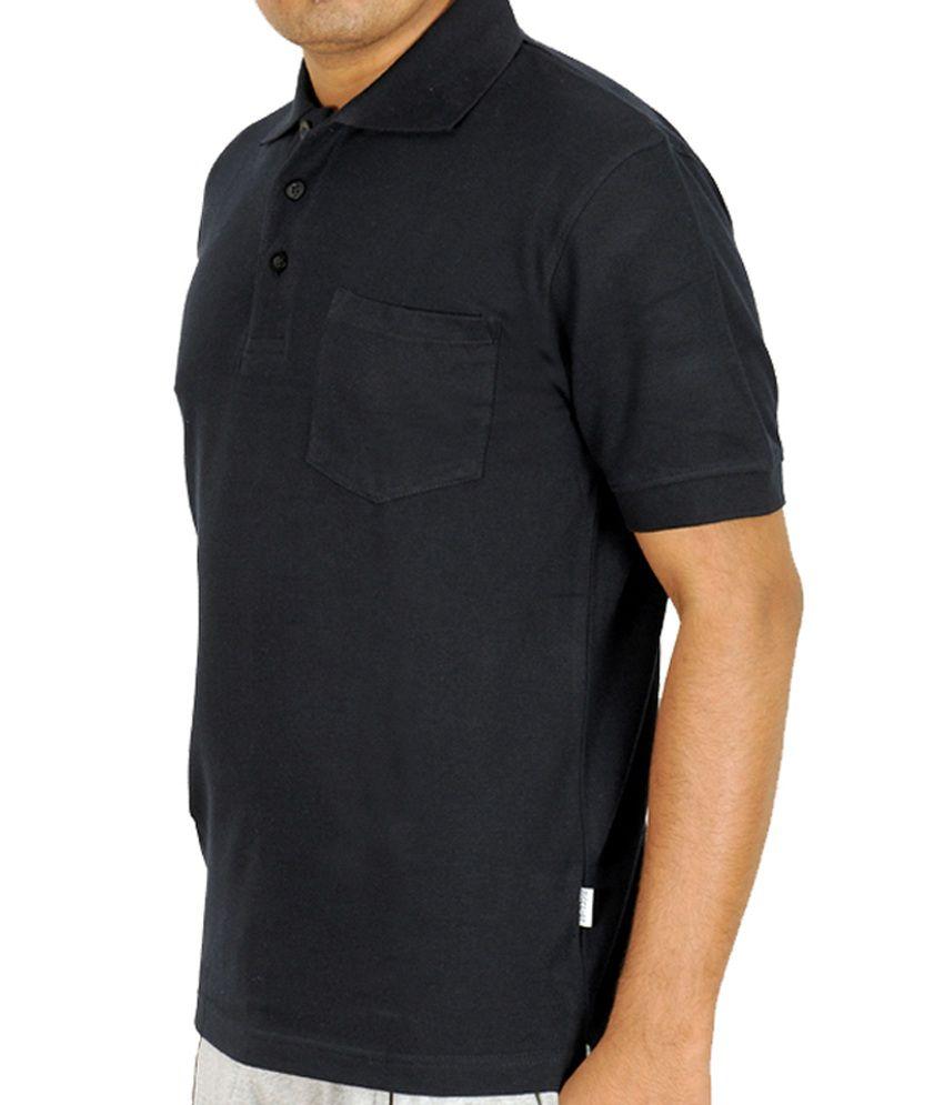 Scorpion Fashions Black Polo T Shirt With Pocket Buy Scorpion