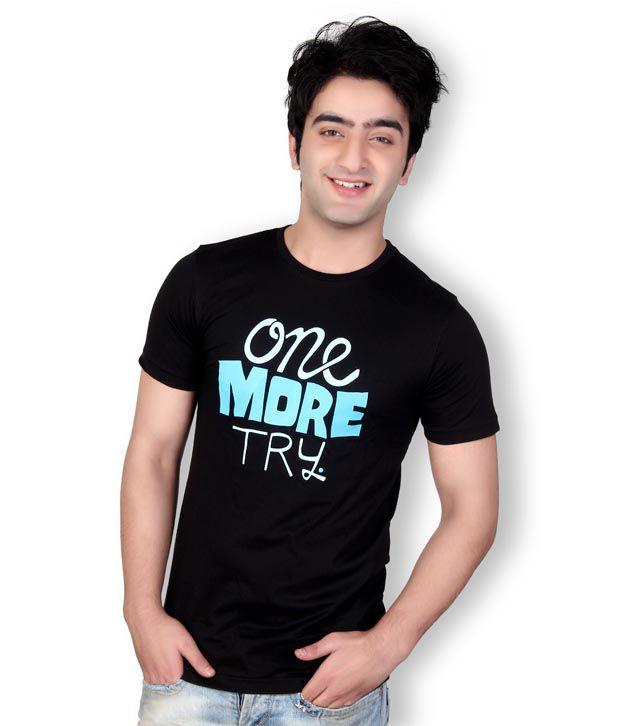 Horizon Printed Black T-Shirt