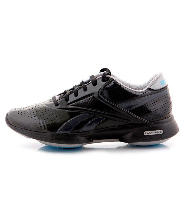 7cd062f2673f0 Reebok Easytone Black   Grey Sports Shoes Price in India- Buy Reebok ...