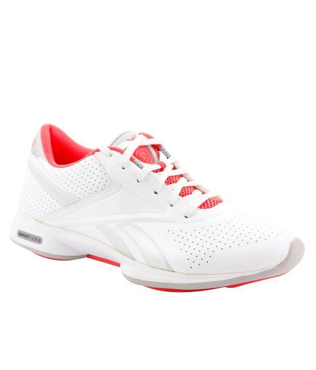 Reebok Easytone White & Red Sports Shoes