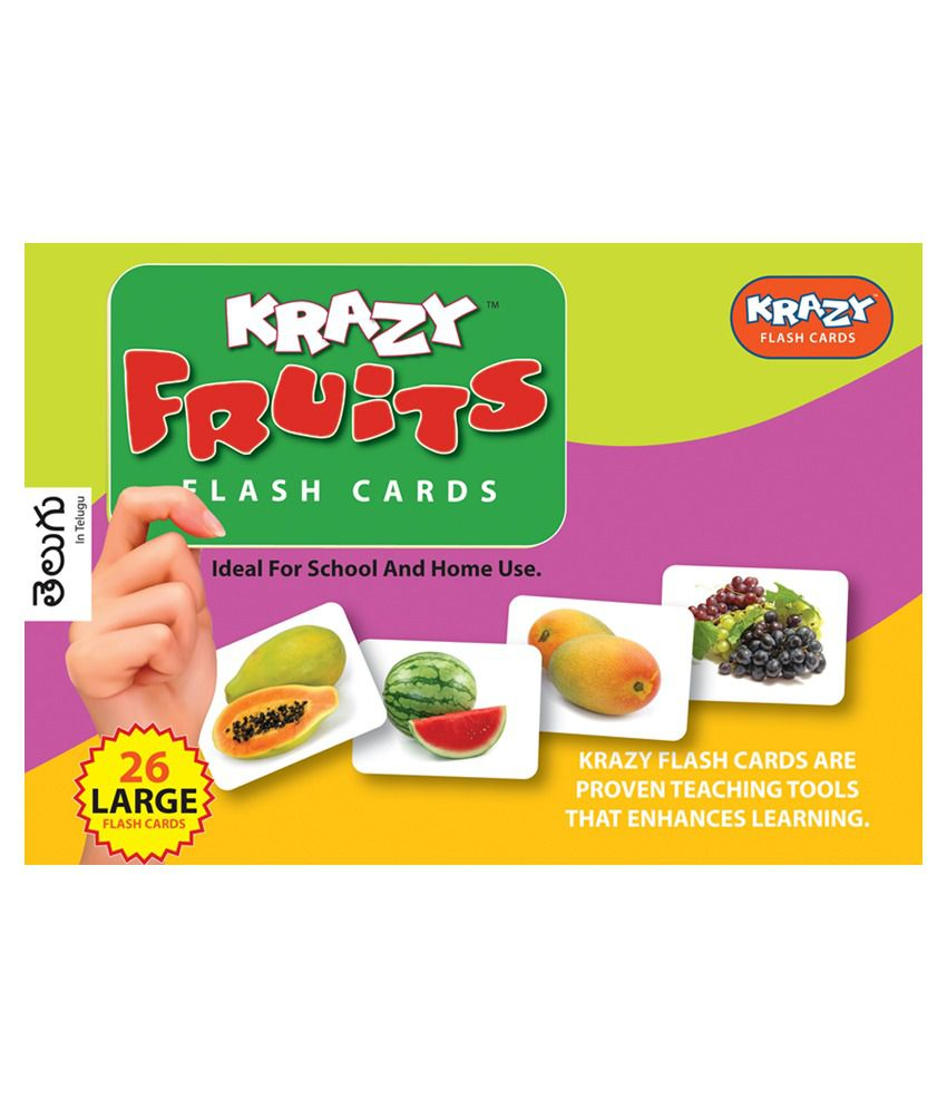 Krazy Fruits - Telegu Flash Cards