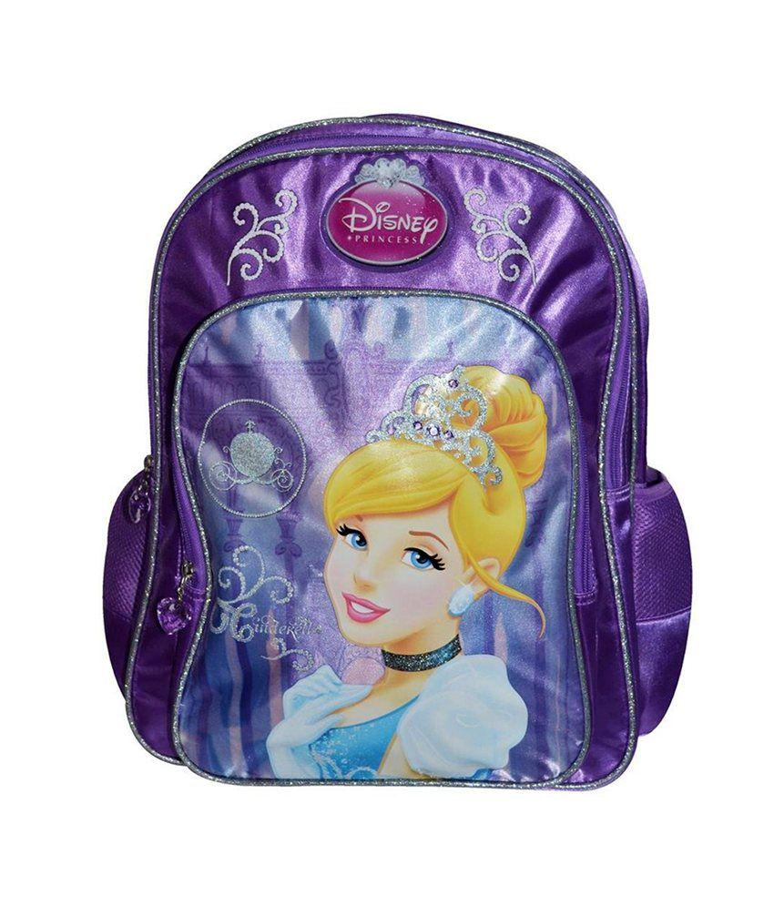 Simba Purple Stylish Cinderella Backpack