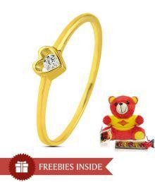 Sparkles Heart Shaped Glitzy Diamond Ring