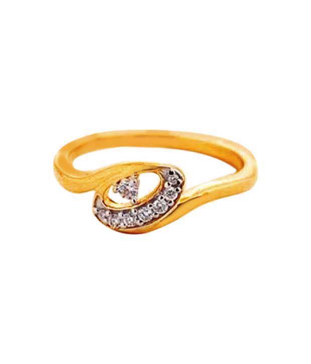 Avsar Graceful Gold & Diamond Ring