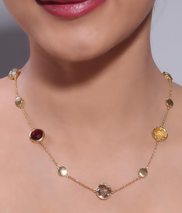 Bansri Charming Miniature Stone Necklace