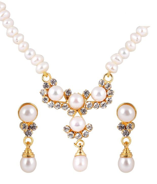 Deccan Ethnic Fresh Water Pearl Necklace Set