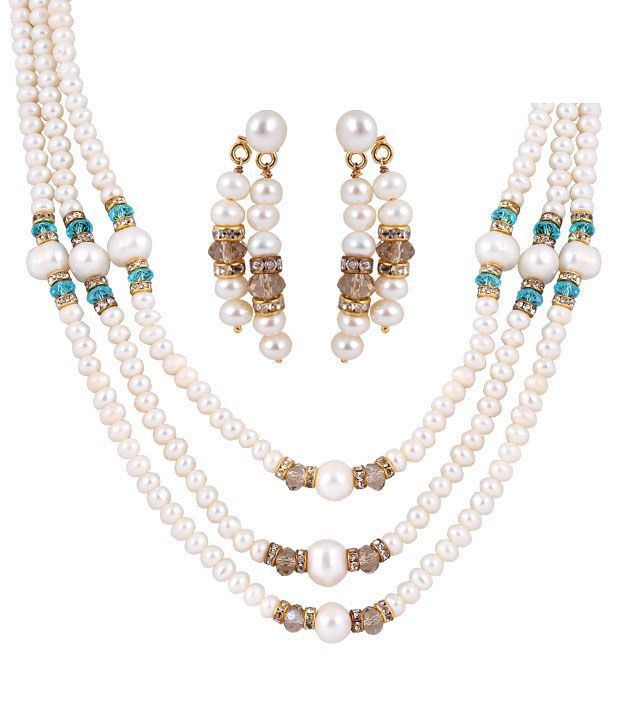 Deccan Royal Fresh Water Pearl Necklace Set