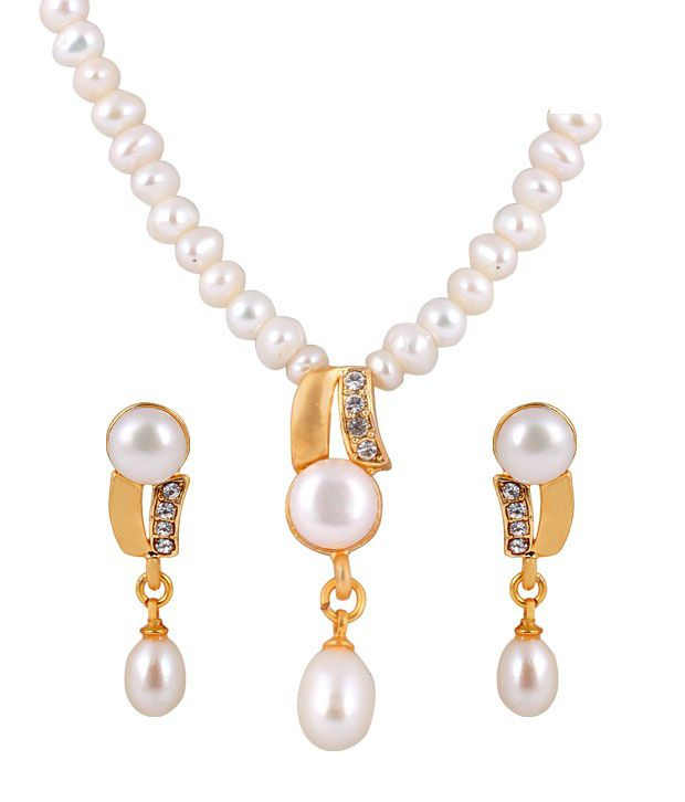 Deccan Winsome Fresh Water Pearl Necklace Set