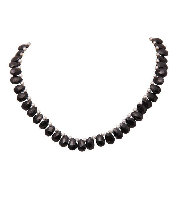 Freak's Single Line Black Onyx Gemstone String